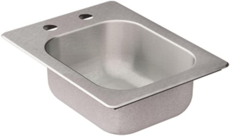 Moen Kg2045522 2000 Series 20 Gauge Single Bowl Drop In Sink, Stainless Steel, 16.625 x 17.3