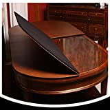 #6: Table Pads for DINING ROOM TABLE ~ Custom Made Dining Table Pad Protector with BONUS TABLE RUNNER and LEAF EXTENSIONS Included, Premium Made (Maximum size: 120