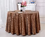 European style round tablecloth restaurant restaurant home meeting wedding thick round tablecloth ( Color : Brown , Size : 2.8cm )