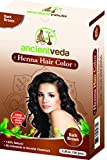 Henna Hair Color Dark Brown with Applicator Brush, 10.6 Oz(Pack of 2 X 150 Gms) - no Ammonia, no Fillers, no Preservatives, no Chemicals, all Natural - Ancient Veda