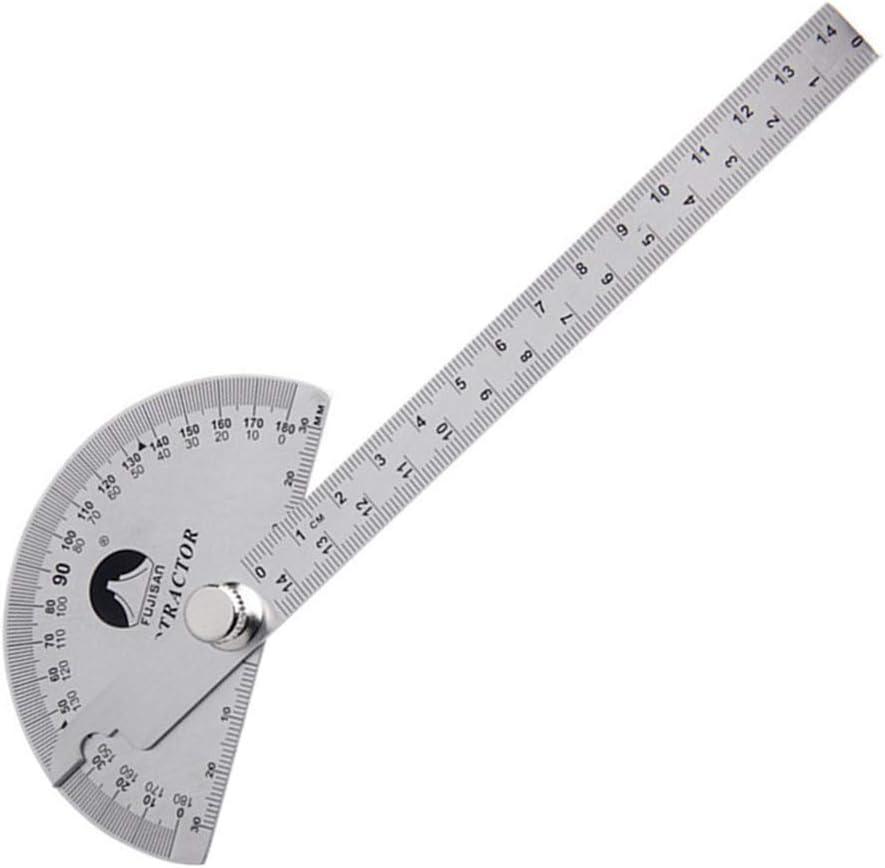 15 cm medidor de /ángulo LNIEGE Transportador de Acero Inoxidable Digital goni/ómetro Regla 0-180 Grados inclin/ómetro 120 * 150mm