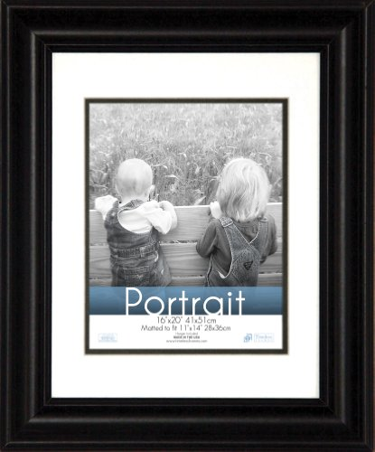 Timeless Expressions Photo Lauren Portrait Wall Frame, 16x20, Black (X 20 Black 16 Frames Picture)