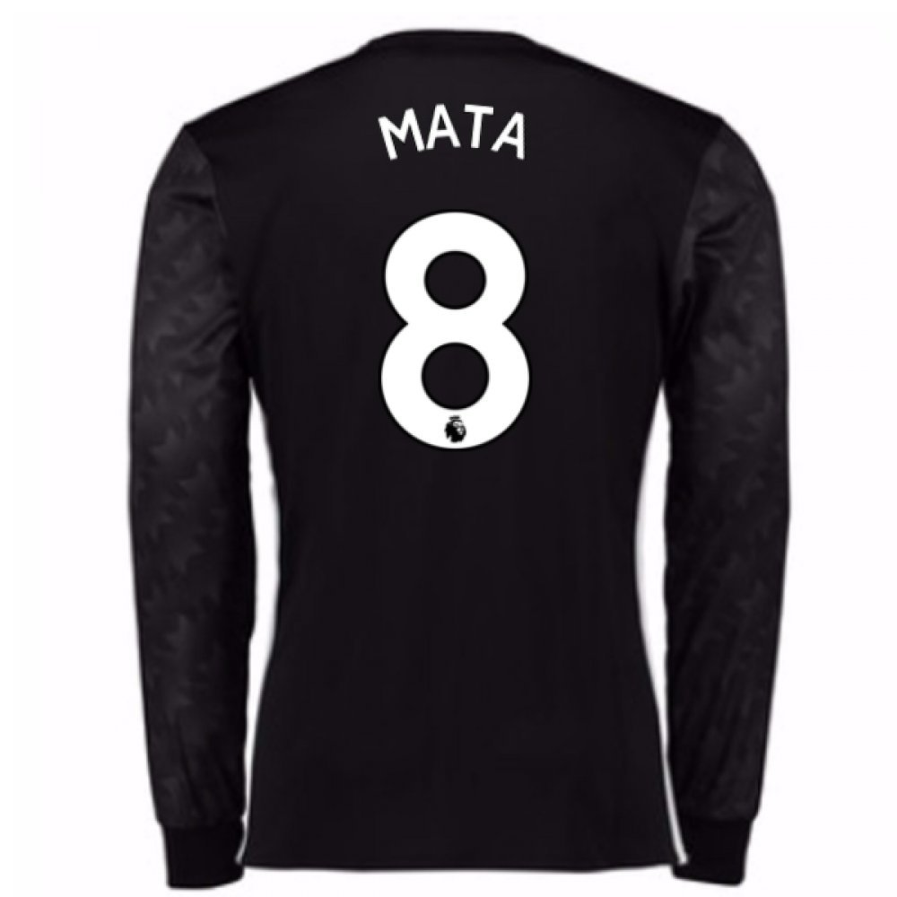 2017-18 Man Utd Away Long Sleeve Football Soccer T-Shirt Trikot (Kids) (Juan MATA 8)