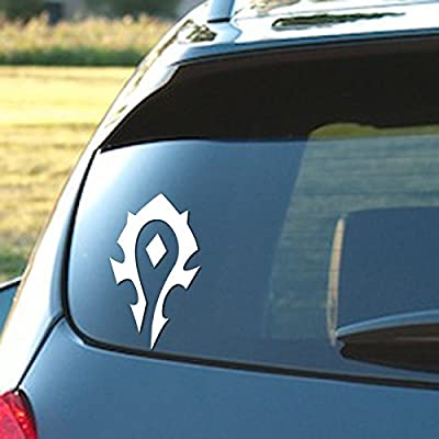 """Signage Cafe World of Warcraft Horde - Vinyl Decal, 3.5"""" x 6"""" in a Variety of Color Options (White): Automotive"""