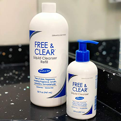 Free & Clear Liquid Cleanser   Fragrance, Gluten and Sulfate Free   For Sensitive Skin   8 Fl Oz