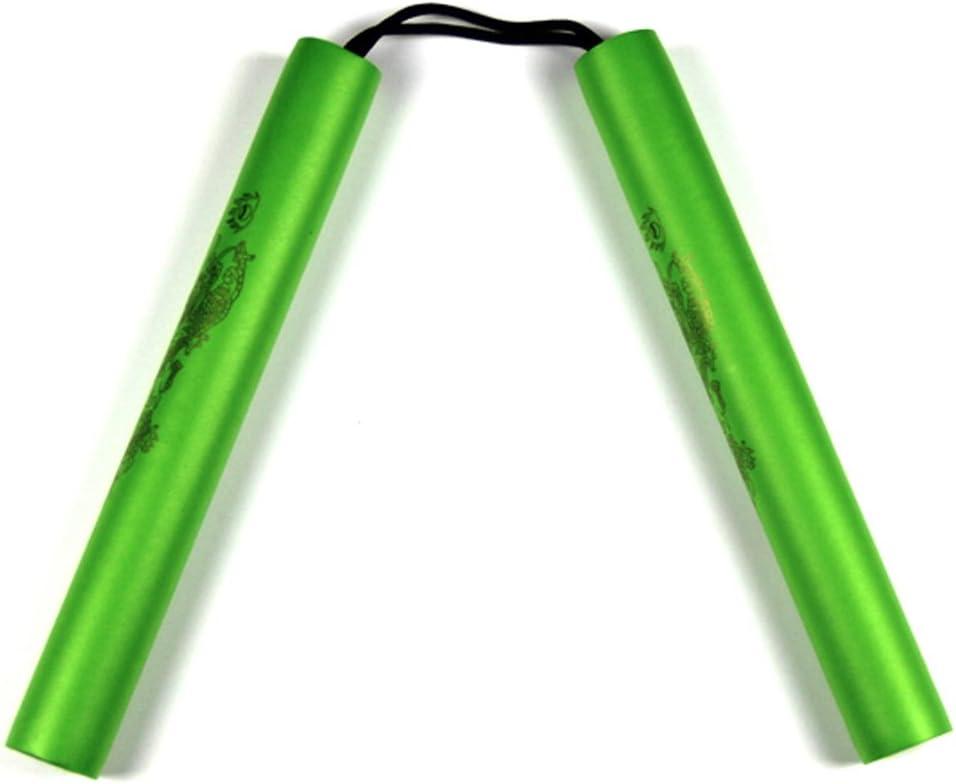 Glield 27cm Nunchaku Espuma Estampado Drag/ón con Cuerda Seguro de Buena SJG01