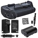Battery Grip Bundle F/ Nikon D800, D810: Includes MB-D12 Replacement Grip, 1-Pk EN-EL15 Long-Life Battery, Charger, UltraPro Accessory Bundle