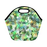 Best Green Sprouts ice pack - Insulated Neoprene Lunch Bag Painting Art Colors Green Review