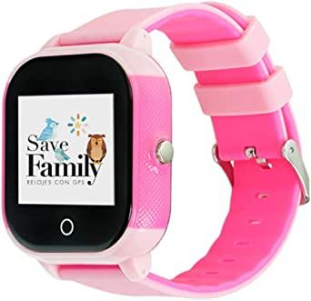 Reloj con GPS para niños Save Family Modelo Junior Acuático Rosa ...