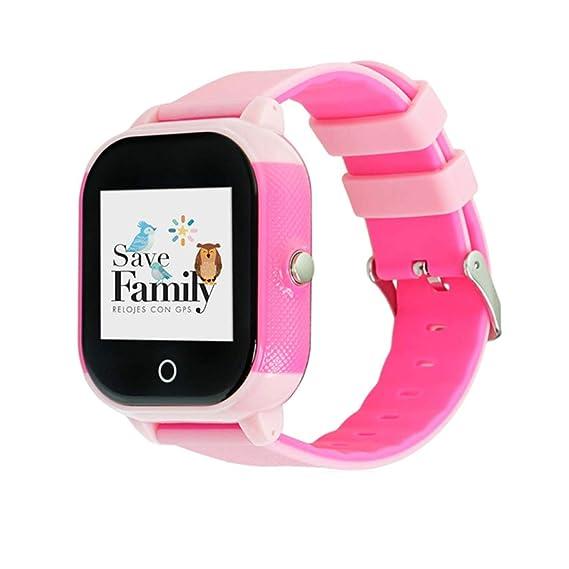 Reloj con GPS para niños Save Family Modelo Junior Acuático. Smartwatch con botón SOS, Permite Llamadas y Mensajes. Resistente al Agua Ip67