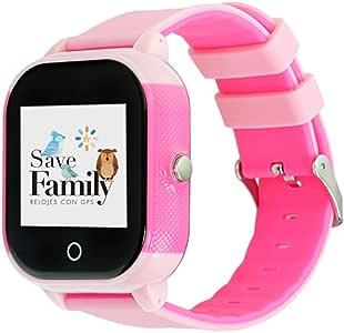 Reloj con GPS para niños Save Family Modelo Junior Acuático IP67. Smartwatch Juvenil. Botón SOS, Anti-Bullying, Chat Privado, Modo Colegio, Llamadas y Mensajes. App Propia. Incluye Cargador.
