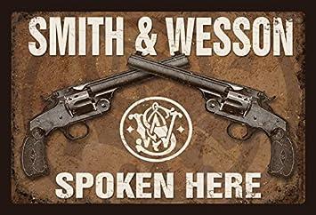 Cartel de Chapa genérica 30 x 20 cm Smith & Wesson Revolver ...