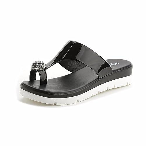 YUCH Las Damas Zapatillas Para Patinar EN Verano El Agua del Fondo Plano Taladrar Toe Calzado De Playa: Amazon.es: Zapatos y complementos