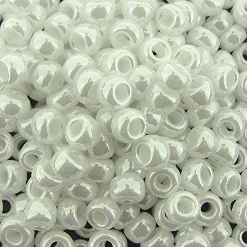 Miyuki Seed Beads Round Rocaille Size 6/0 White Ceylon 20 Gram -