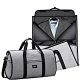 RUIMA Travel Garment Bag With Pocket, Mens Garment Bag Folding Design For Business Trip Or Other Formal Occasion. Hanging Garment Bag & Carryon Garment Bag Two-In-One (GREY)