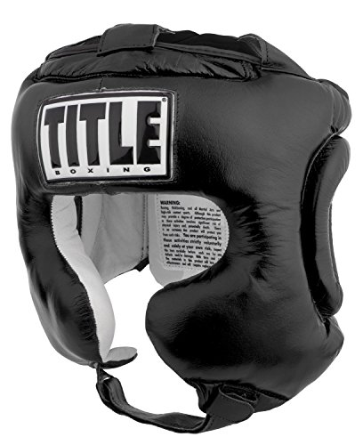 Title Boxing Traditional Training Headgear, Black, Regular