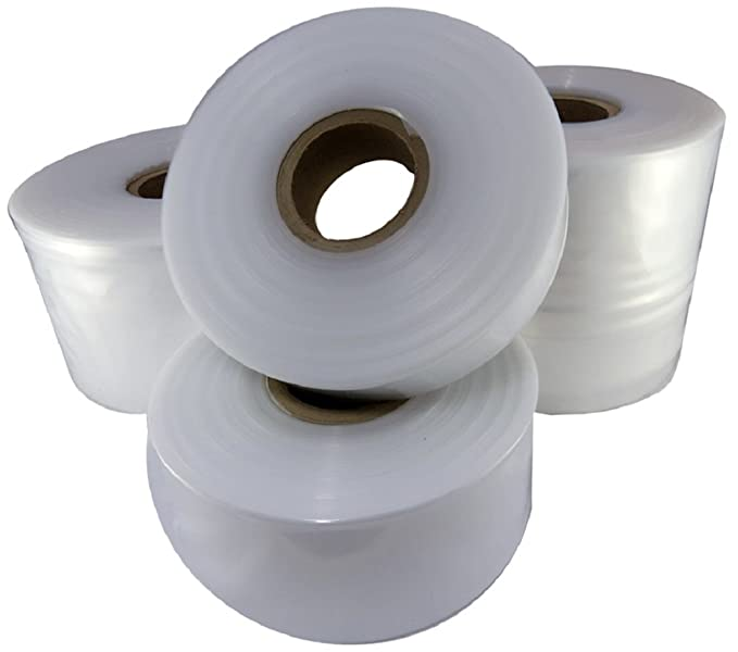 Heavy Duty 500 Gauge Transparent Plastic Lay Flat For Packing Packaging Storage Bags 1 Roll Of Small 4 Wide Strong Clear Polythene Layflat Tubing 168 Metres Per Roll