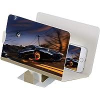 Cooljun Titulaire De Téléphone Portable Loupe Écran 3D HD TV Amplificateur Vidéo Portable Pliant Agrandir Stand, 8pouces 4~6 Fois Élargissant L'effet