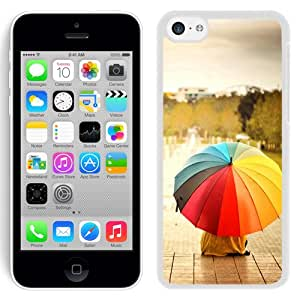 Colorful Umbrellas Kids Rainbow Weather Mood (2) Durable High Quality iPhone 5C Phone Case