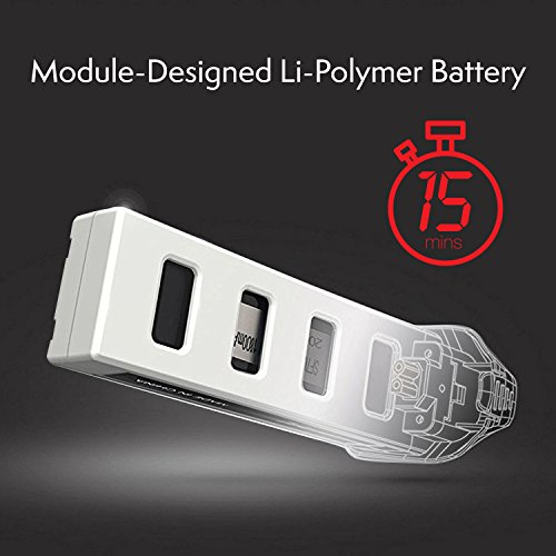 Genuine MJX Rechargeable LiPo Battery - 7.4V 1800mAh LiPo Battery for Force1 MJX Bugs 2W Bugs 2C F200W Shadow and F200C Specter Quadcopter Drone (White) by Force1