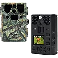 Bestguarder HD Waterproof IP66 Hunting Camera- 12MP, 1080P, 2 Inch Display, 4X Digital Zoom, 6 Months Standby, Powerful Night Vision