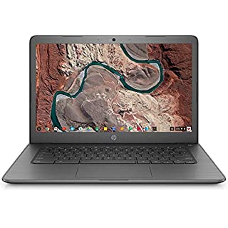 "HP Chromebook 14 14"" Laptop Computer, for Education or Student, Intel Celeron N3350 Up to 2.4GHz, 4GB DDR4, 32GB eMMC, 11+ Hrs Battery, USB 3.1 Type-C, Chrome OS, Online Class Ready, BROAGE Mousepad"