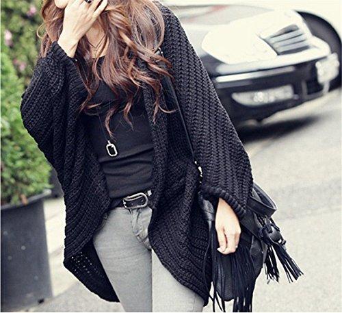 Cable YOGLY Taille Manches Tricot Longues Femme Plus La Itrqr4g