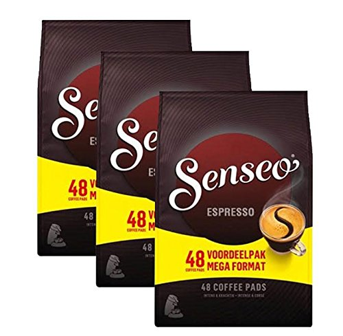 Douwe Egberts, Senseo, Espresso, 48 Coffee Pods, Intense and Corse, Triple Pack (Senseo Coffee Machine)