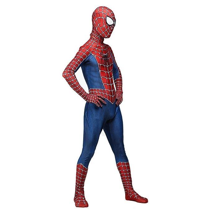 RNGNBKLS Niño Adulto Spiderman Homecoming Disfraz Halloween Carnaval Cosplay Spiderman Suit Spandex/Lycra 3D Print Spiderman Traje,Child-S