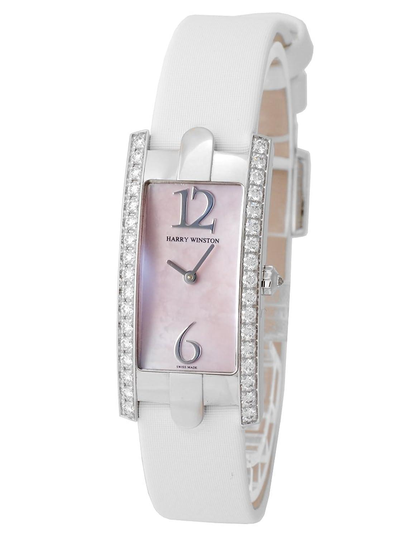 [ハリーウィンストン] HARRY WINSTON 腕時計 アヴェニューC 330LQW WG/サテン ピンクシェル ケースダイヤ [中古品] [並行輸入品] B071XXWD3X