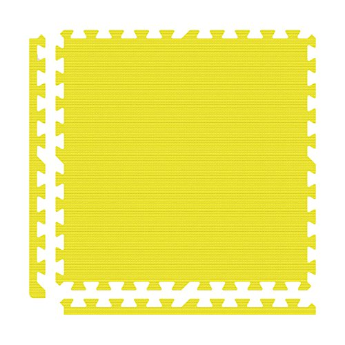Alessco EVA Foam Rubber Interlocking Premium Soft Floors 8' x 10' Set Yellow ()