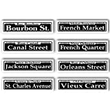 New Orleans Tin Street Signs Set of 8 Different Signs