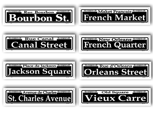 New Orleans Tin Street Signs Set of 8 Different - Canal St New Orleans