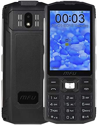 "MFU Easy to Use Cell Phone for Seniors & Unlocked Phone 2G Tri SIM 3 SIM Cards Big Button Large Button Big Volume Large Capacity Power Bank Long-time Standby 3.5"" Large Screen Super Torch Light-Black"