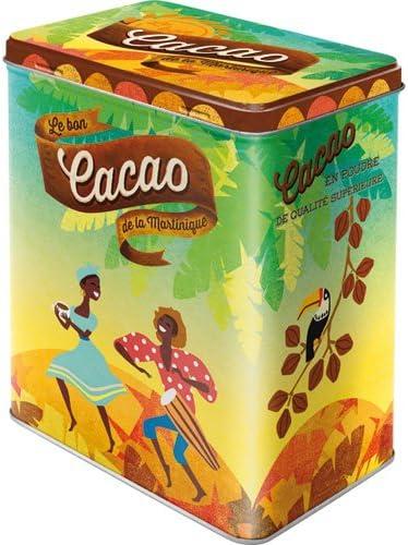 Nostalgic-Art 30130 – Lata de almacenaje de la Martinica de Cacao de café y Chocolate L: Amazon.es: Hogar
