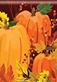 Harvest Pumpkin Welcome Fall House Flag Sunflower Autumn Banner 28″ x 40″ For Sale