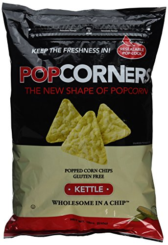 Popcorners Gluten Free Popped Corn Chips, Kettle ,18 Oz