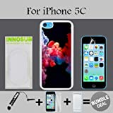 3in1 vape - Colorful Vape Smoke Custom iPhone 5C Cases-White-Plastic,Bundle 3in1 Comes with Screen Protector/Universal Stylus Pen by innosub