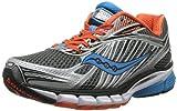 Saucony Men's Ride 6 Running Shoe,Grey/Orange/Blue,13 M US
