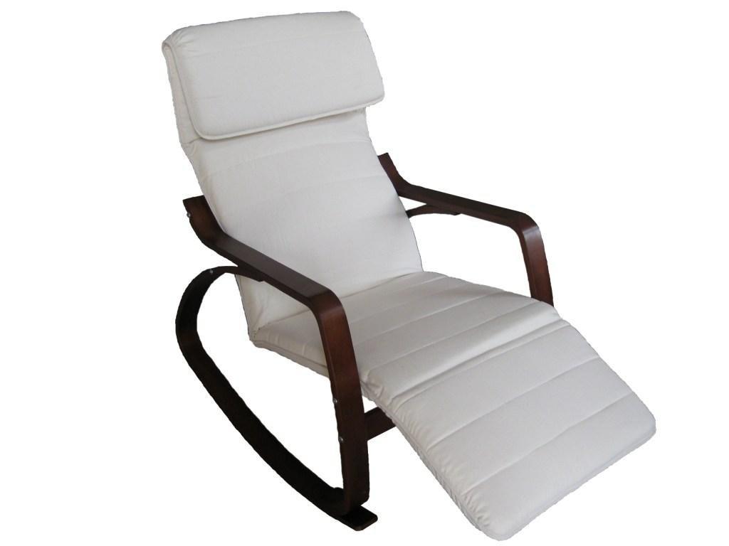 Vacchetti Giuseppe 2701380000 bascule rembourré avec repose-pieds - réglable - coussin - bois - naturel - 67 x 127 x