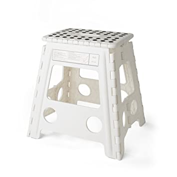 Acko 16 Inches Super Strong Folding Step Stool for Adults and Kids White Kitchen Stepping  sc 1 st  Amazon.com & Amazon.com: Acko 16 Inches Super Strong Folding Step Stool for ... islam-shia.org