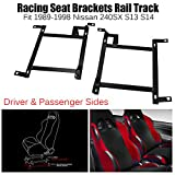 240sx bucket seats - Driver & Passenger Sides Pair of Racing Seat Mounting Brackets Rail Track (Left & Right) for 1989-1998 Nissan 240SX S13 S14