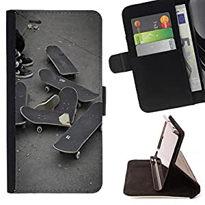 Dragon Case- Caja de la carpeta del caso en folio de cuero del tir¨®n de la cubierta protectora Shell FOR Sony Xperia m55w Z3 Compact Mini- Skateboard HipPop Man Funny