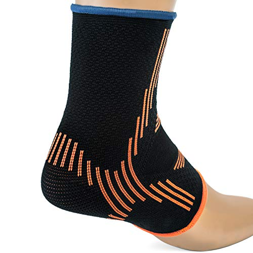 Kunto Fitness Ankle Brace Compression Support Sleeves (Pair) for Injury Recovery, Joint Pain, Swelling, Plantar Fasciitis & Achilles Tendon (Medium) by Kunto Fitness Products (Image #4)