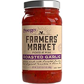 Prego Farmers' Market Sauce, Roasted Garlic, 23.5 Ounce (Packaging May Vary)