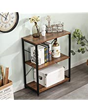 DlandHome Console Table Side Table 3-Tier Book Shelf for Living Room Table Sofa Side Table for Living Room, Entryway, DCA-CZJYB-sj03
