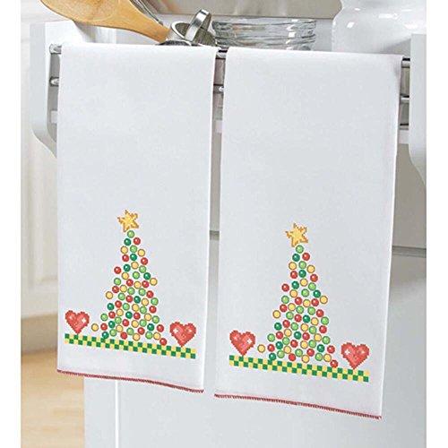 Herrschners® Gumdrop Towel Pair Stamped Cross-Stitch