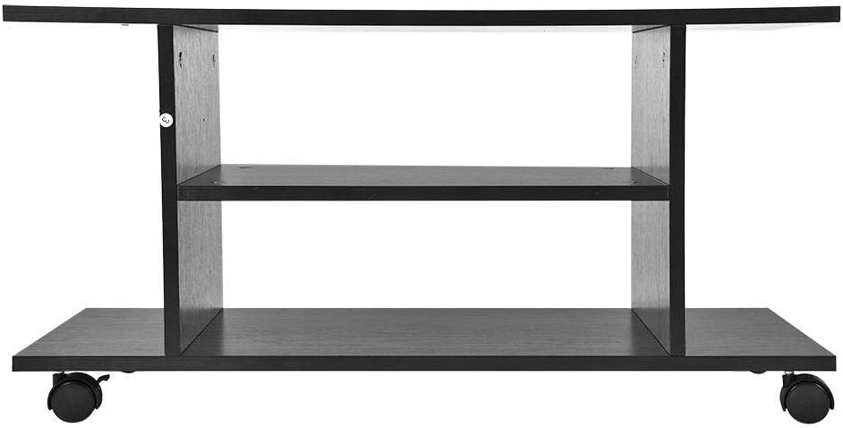 lyrlody TV Stand,Removable Wooden TV Stand Table Low TV Cabinet TV Entertainment Unit Media Console Storage Cabinet Shelf for Bedroom Room Living Black,80/×40/×40cm