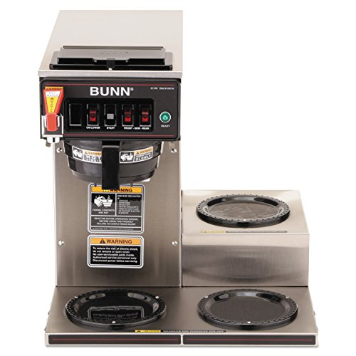 Best of Bunn 12950.0212 CWTF15-3 Automatic Commercial Coffee Brewer with 3 Lower Warmers