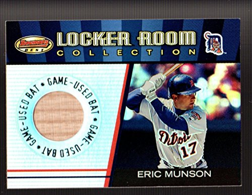 AME USED BAT Eric Munson DETROIT TIGERS Locker Room Collection Lumber #LRCLEM ()